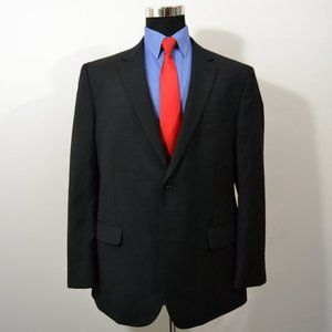Pronto Uomo 46R Sport Coat Blazer Suit Jacket Blac